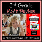 3rd Grade Review Measurement and Data Game Cards for Commo