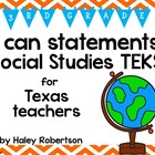 "3rd Grade Social Studies ""I can"" statements- Chevron patte"