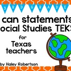 "3rd Grade Social Studies ""I can"" statements- Tile pattern"