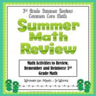 3rd Grade Summer Review Activity Booklet