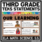 Third Grade TEKS Bundle - I Can... Standards Statements