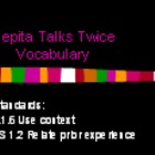 3rd Language Arts HM 6.1 Pepita Talks Twice Vocab PPT