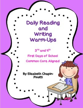 ... Grade Daily Reading & Writing Warm-Ups for the First Days of School