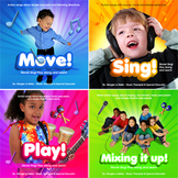 4 Action music therapy / education CDs for all learners!!