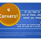 4 Corners Ice Breaker or Voice Intro for 6 +1 Traits