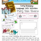 4 Early Primary Language Arts Centers: Fairy Tale Theme