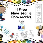 4 Free New Year's Bookmarks
