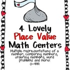 4 Lovely Place Value Math Centers