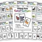 4 Phonics Card games - FUNetic Farm Animal Alphabet