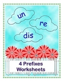 4 Prefixes Worksheets (un, re, dis)