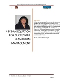 4 P's: An Equation for Successful Classroom Management