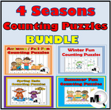 4 Seasons Counting Puzzles Bundle {Spring, Summer, Winter,