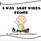 4 Way Sight Words - Primer