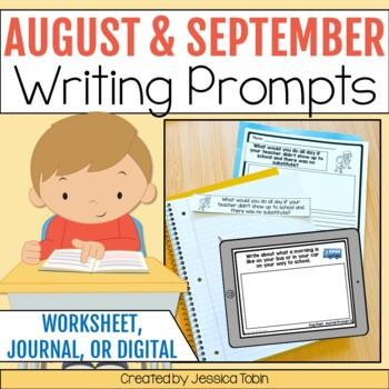 40 August and September Primary Writing Journal Prompts