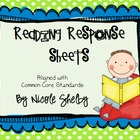 45 Reading Response Sheets for Common Core Standards