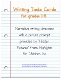 46 Writing Task Cards with Picture Prompts