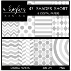 47 Shades Short {12x12 Digital Papers for Commercial Use}