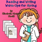 4th and 6th Grade Reading and Writing Warm-Ups for Spring
