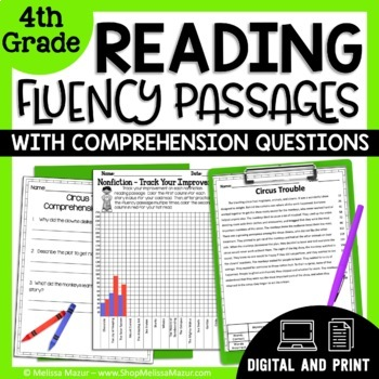 4th Grade - 30 Reading Fluency and Comprehension Passages - Fiction & Nonfiction
