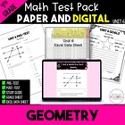 4th Grade CC Unit 6 Math Test & Excel Data Sheets: Geometry