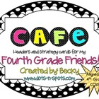 4th Grade CCSS aligned CAFE headers and Strategy cards
