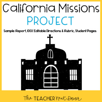 4th Grade California Missions Project: Common Core