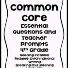 4th Grade Common Core 4th Grade Essential Questions and Te