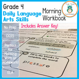 4th Grade Common Core Daily Morning Bell Language Arts Workbook