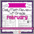 4th Grade Common Core Daily Math Review/Morning Work- February