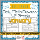 4th Grade Common Core Daily Math Review/Morning Work- January