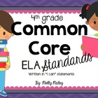 4th Grade Common Core ELA Posters