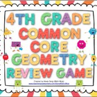 4th Grade Common Core Geometry Review Game