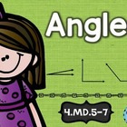 4th Grade Common Core MD.5-7: Angles: Math Tasks, Exit Tic