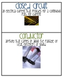 4th Grade Common Core Magnetism and Electricity unit vocabulary