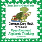4th Grade Common Core Math Brain Booster Game Cards Op. &