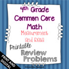 4th Grade Common Core Math Review Problems {Measurement and Data}