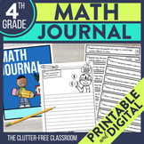 4th Grade Common Core Math Journal: Over 200 Prompts and O