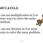 4th Grade Common Core Math--Student Friendly--Monkey Clipart