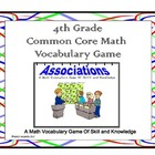 4th Grade Common Core Math Vocabulary Game
