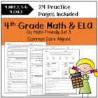 Morning Work 4th Grade Set 3 CC {Anytime Sheets} Go Math!