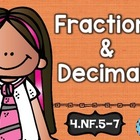 4th Grade Common Core NF.5-7 Fraction/Decimals: Math Tasks