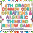 4th Grade Common Core Operations and Algebraic Thinking Re