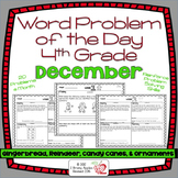 4th Grade Common Core Word Problem of the Day- December