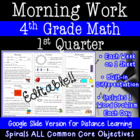 4th Grade Daily Math Morning Work 1st Quarter Practice Com