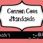 4th Grade ELA / Math Common Core Posters & Teacher Planner