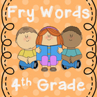 4th Grade Fry Words- Word Wall