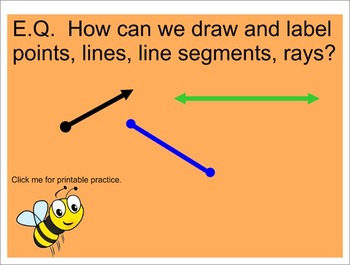 Points, Lines, Rays, and Segments- Interactive SmartBoard Lesson