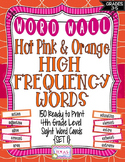 4th Grade High Frequency Words/Pink and Orange Polka Dot - Set 1