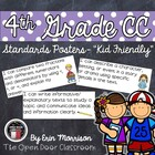 "4th Grade Language Arts Common Core Standards Posters- ""Ki"