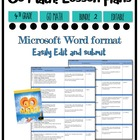 Lesson Plan Bundle 4th Grade {2nd 6 Weeks Editable} Go Math! CC